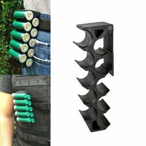 Image 2 - Taktische Molle Magazin Tasche 12GA Shotgun Shell Ammo Träger 10 Runde mit Clip 12 Gauge Shell Halter Military Zubehör