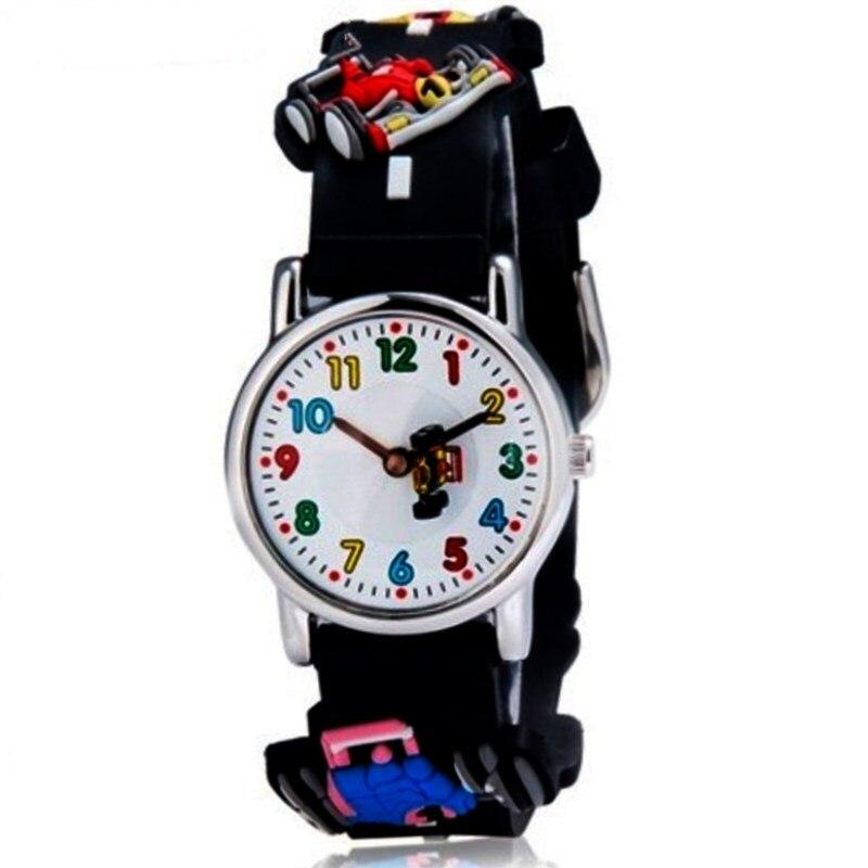 WILLIS Fashion Children Quartz Wristwatch Cartoon 3D Watches Bright Color Stylish Analog Karting Jelly Waterproof Clock Watches