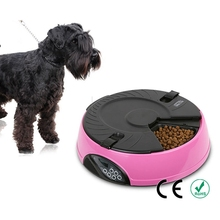 6 Meal Smart Automatic Pet Feeder LCD Display Dog Cat Food Dispenser Timed Recorder Bowl Food Reminder Cat Feeder