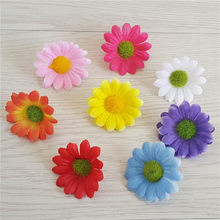 50pcs / 4cm 8 different colors artificial gerbera daisy head silk flower home wedding decoration bouquet party home decoration(China)