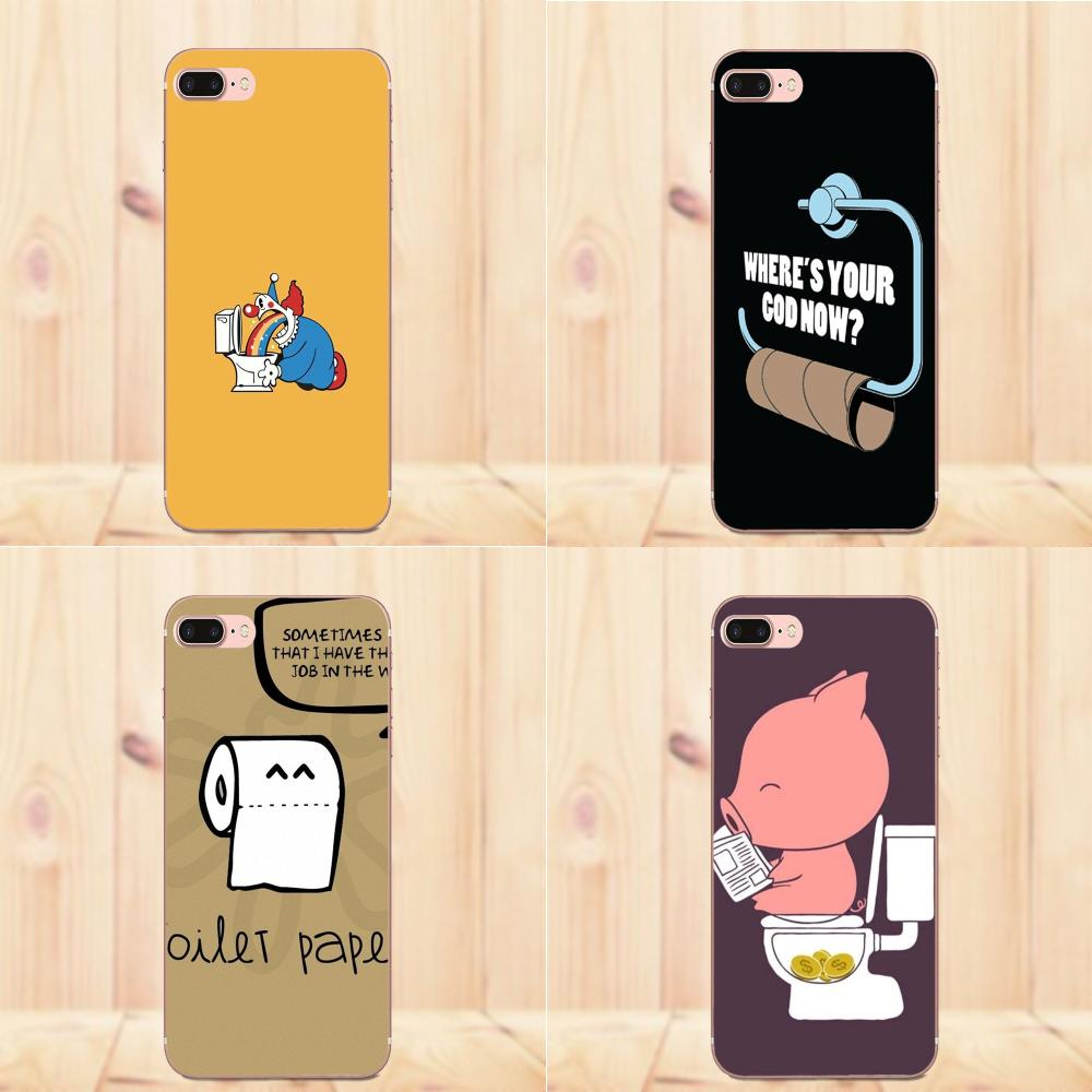 For Galaxy J1 J2 J3 J330 J4 J5 J6 J7 J730 J8 2015 2016 2017 2018 mini Pro Soft TPU Cases Fundas Funny Toilet Paper Minimalism image