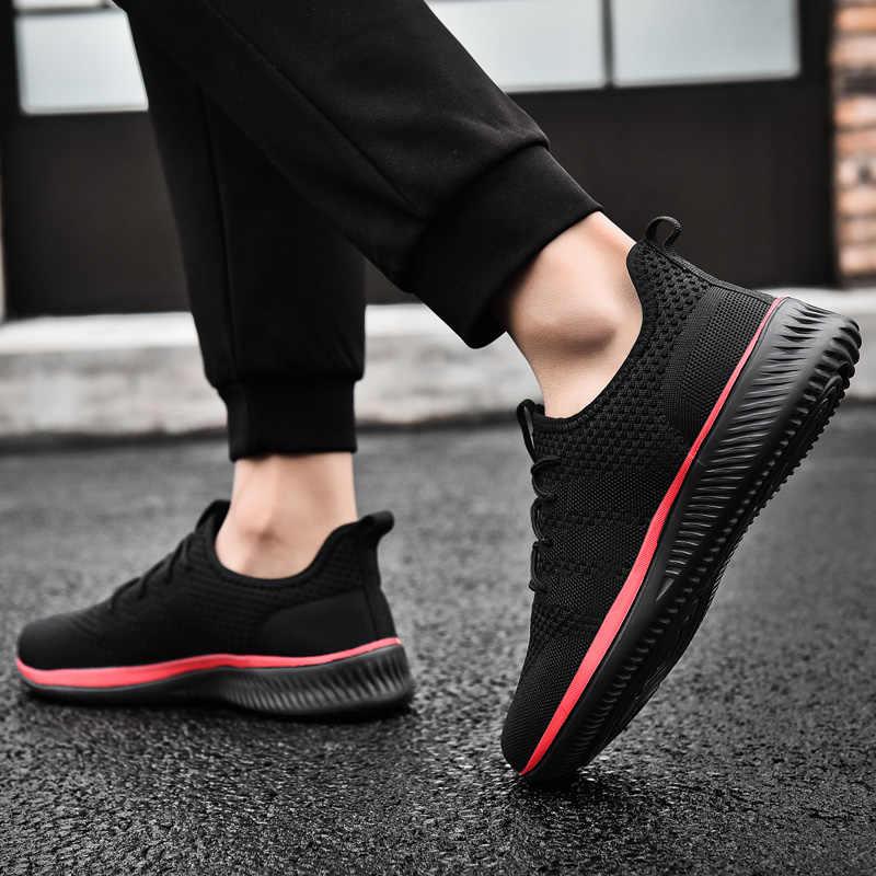 ผู้ชายรองเท้าสบายๆน้ำหนักเบารองเท้าผ้าใบ 2019 ใหม่แฟชั่นผู้ชาย Outdoors Breathable สบายรองเท้าสบายๆ Zapatos De Hombre