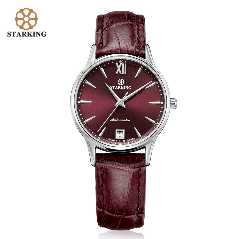 STARKING Watches Women Fashion Watch Stainless Steel Automatic Mechanial Wristwatches Elegant Golden Lady Watch Relogio Feminino