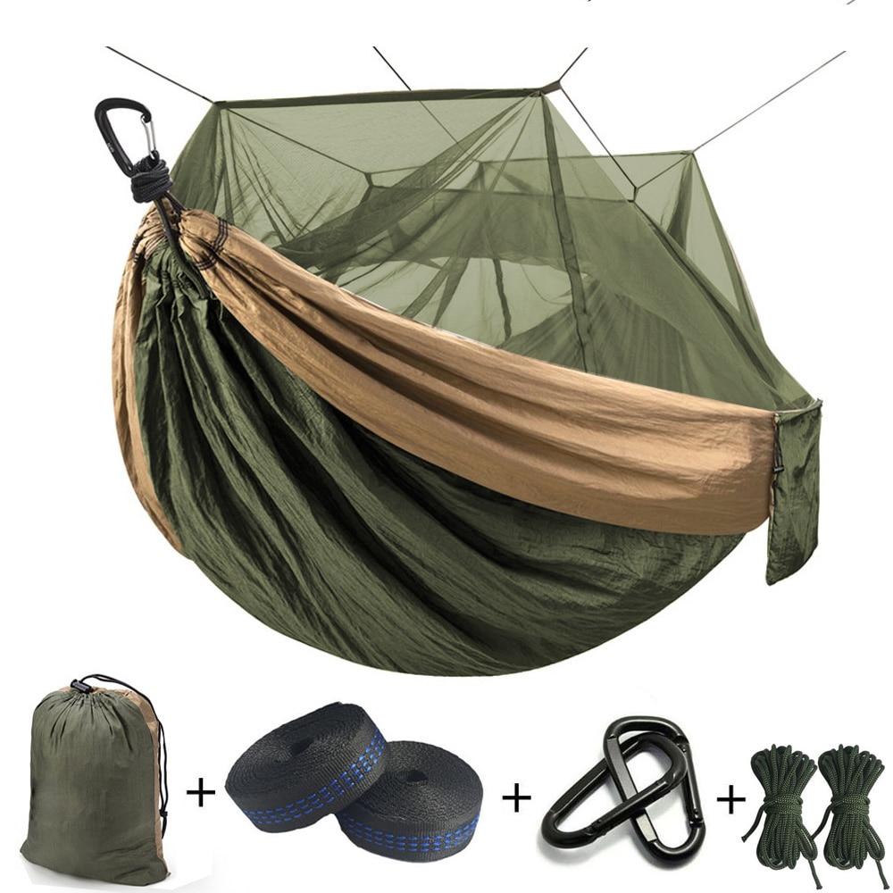 Парашют-гамак, Сверхлегкий гамак с москитной сеткой, для сна, походов, отдыха на открытом воздухе