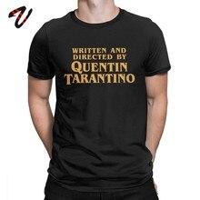 T-Shirt Written And Directed By Quentin Tarantino Movie Mens Tee Shirt Pulp Fiction T Shirts Django Kill Bill John Travolta Tops(China)