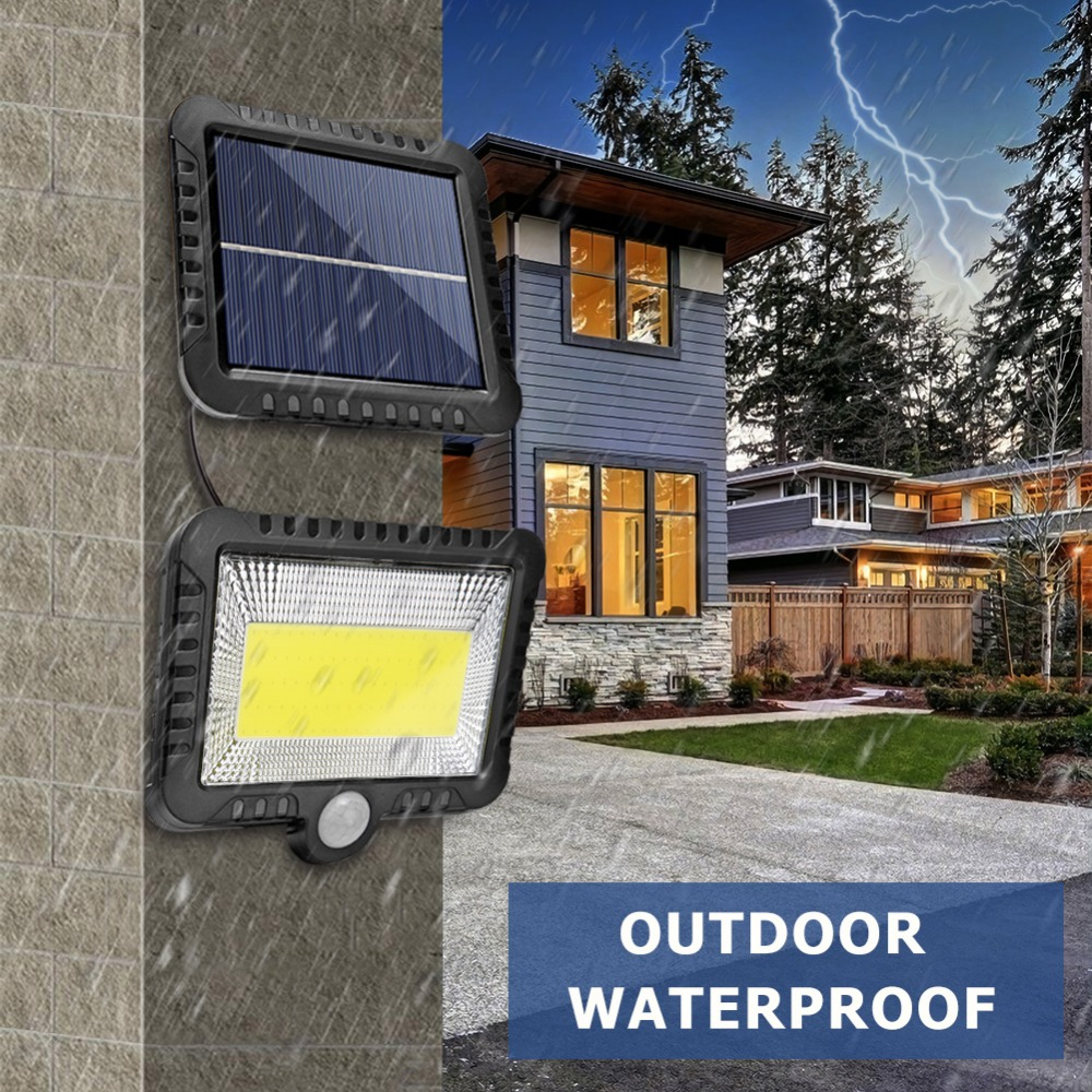 COB Wall Mounted Solar Outdoor Light with 120LED and Motion Sensor Suitable for Street and Garden 12
