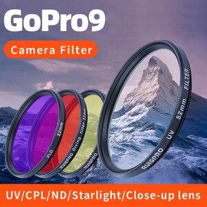 Image 5 - Durável prático filtro adaptador anel uv cpl vermelho fld nd4 6 8 close up + 10 lente acessórios de mergulho para gopro hero 9 preto