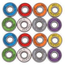16 peças abec 11 alta velocidade resistente ao desgaste skate scooter inline rolamentos longboard acessórios