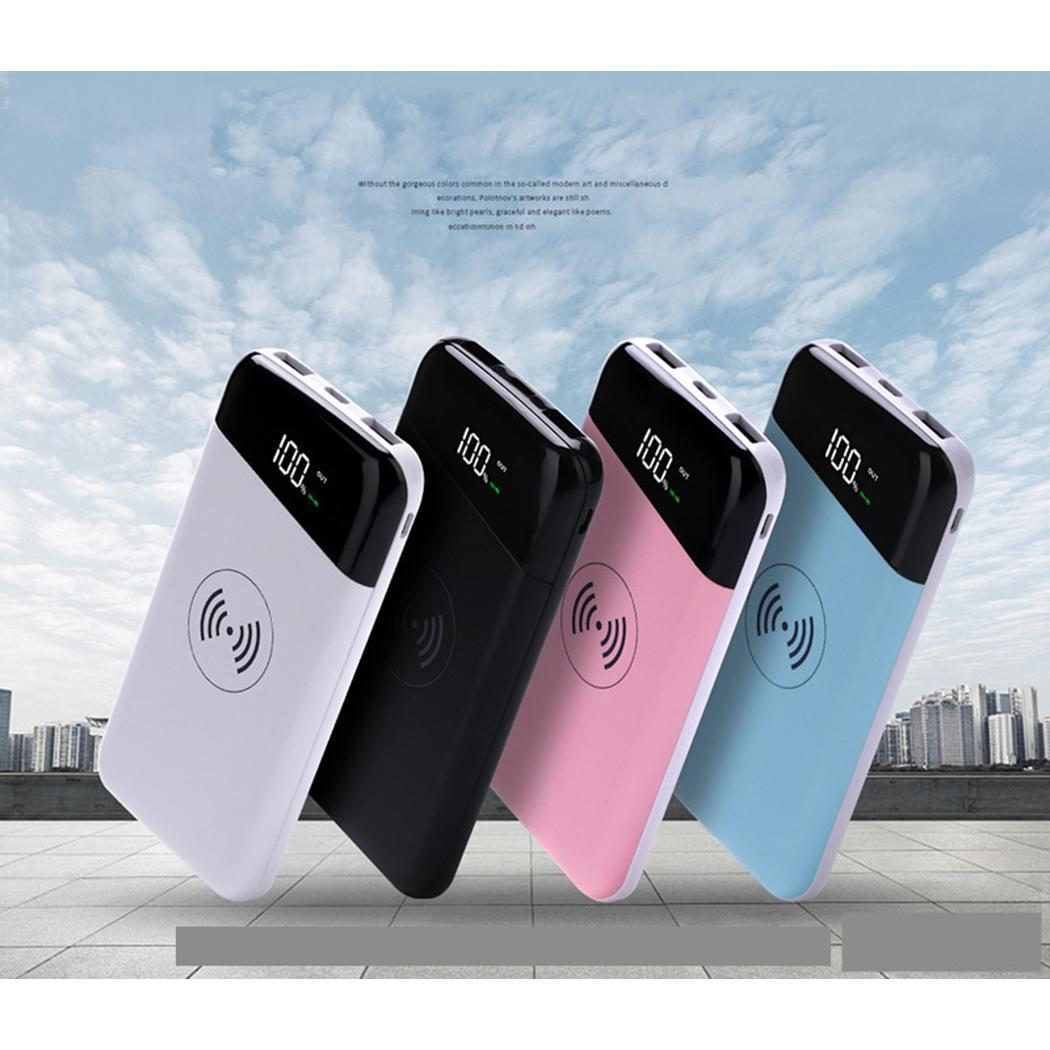 New Wireless Charger 20000mAh Power Bank Mobile Phone Fast Charging Powerbank for iPhone Samsung 18650 Battery Pack usb battery bank charger