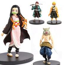 Anime Demon Slayer Figure Kimetsu No Yaib Action Figure Kamado Tanjirou Nezuko PVC Model Toy Agatsuma Zenitsu Hashibira Inosuke
