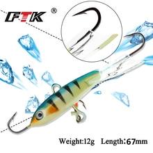 FTK 1PC Winter Fishing Lure 93mm/12G Ice Jig bass Bait Carp hooks Lead Hard 10# Pesca Tackle