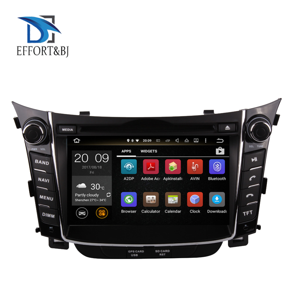 Android 9,0 Auto DVD player GPS Navigation Steuergerät Fü<font><b>r</b></font> Hyundai <font><b>I30</b></font> 2012-2016 multimedia Band Recorder Auto Stereo Bildschirm radio image