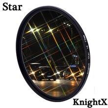 Фильтр для объектива камеры KnightX Star Line 4 6 8 Star для canon sony nikon 1200d 200d 24-105 d80 700d d5100 dslr 60d 52 мм 58 мм 67 мм