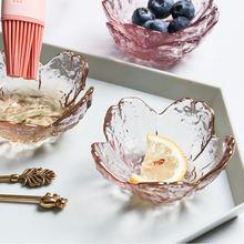 Тарелка в форме цветка Золотая тарелка с цветком вишни розовым