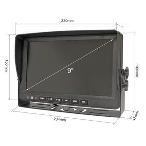 "Image 3 - DIYKIT AHD 9"" 4 Split QUAD Car HD Monitor 1080P AHD IR Night Vision Rear View LED Camera Waterproof with SD Card Video Recording"