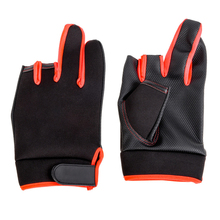 1 Pair Outdoor Non-slip Fishing Protective Gloves Thickened Men Fishing Gloves Three Fingers Cut Sports Half Finger New oumily outdoor tactic half finger gloves khaki size l pair