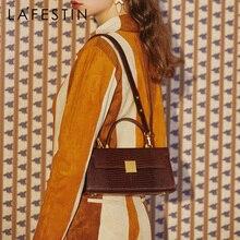 LA FESTIN  2020 new retro leather one-shoulder earl underarm bag women's hand carry crossbody bag tide High-quality brand