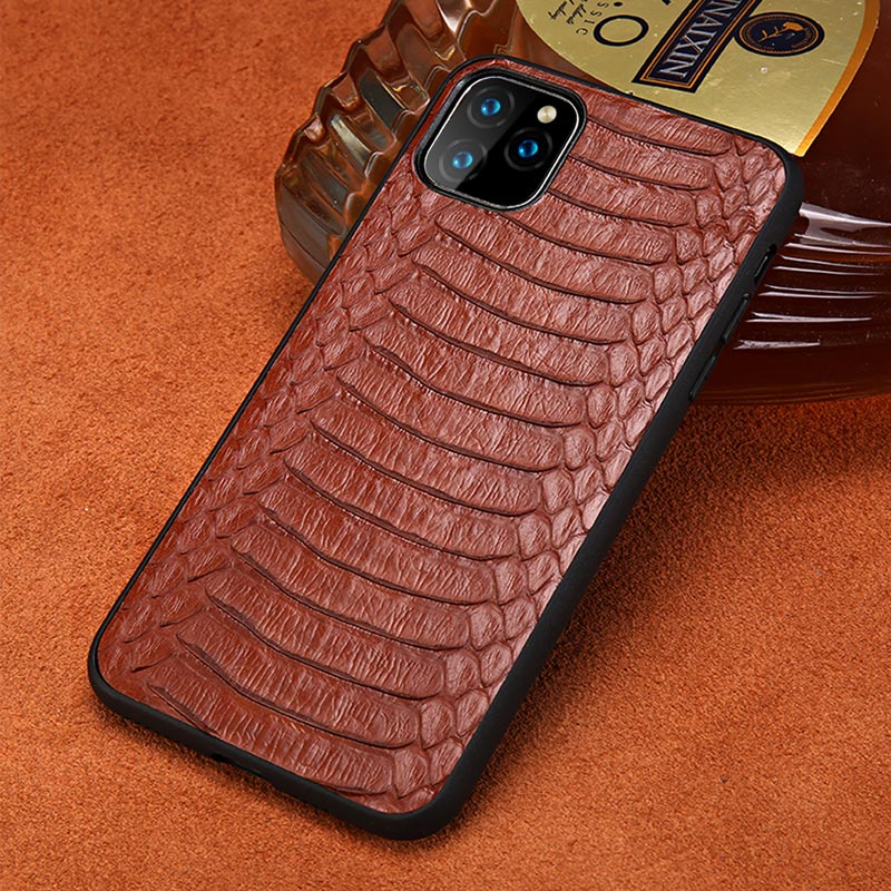<font><b>Genuine</b></font> Python <font><b>Leather</b></font> Phone <font><b>Case</b></font> For Apple <font><b>iPhone</b></font> 11 11 Pro Max X XS Max XR 7 8 6 6s 7 Plus 8 plus 5 <font><b>5S</b></font> se Snakeskin Back Cover image
