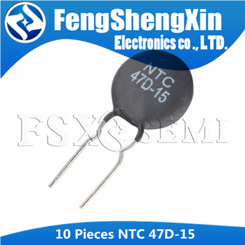 10pcs New NTC Thermistor Resistor 47D-15 47R Thermal - sale item Passive Components