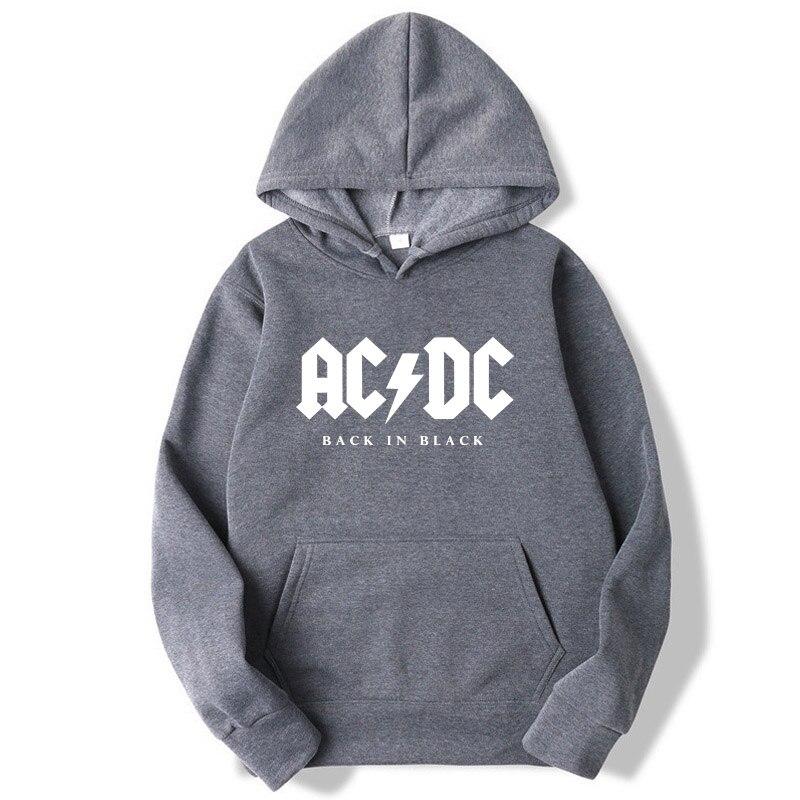 Fashion Brand Men's Hoodie AC/DC Band Rock Printed Sweatshirt Men Autumn Acdc Graphic O-Neck Hoodies Sweatshirts Men Loose Hoody