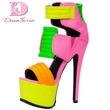 Doratasia, новый дизайн, горячее предложение 2020, Женская разноцветная обувь, женские ботинки на платформе и молнии, летние ботинки на очень высок...