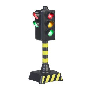Mini Traffic Signs Road Light Block with Sound LED Children Safety Kids Educational Toys Perfect Gifts