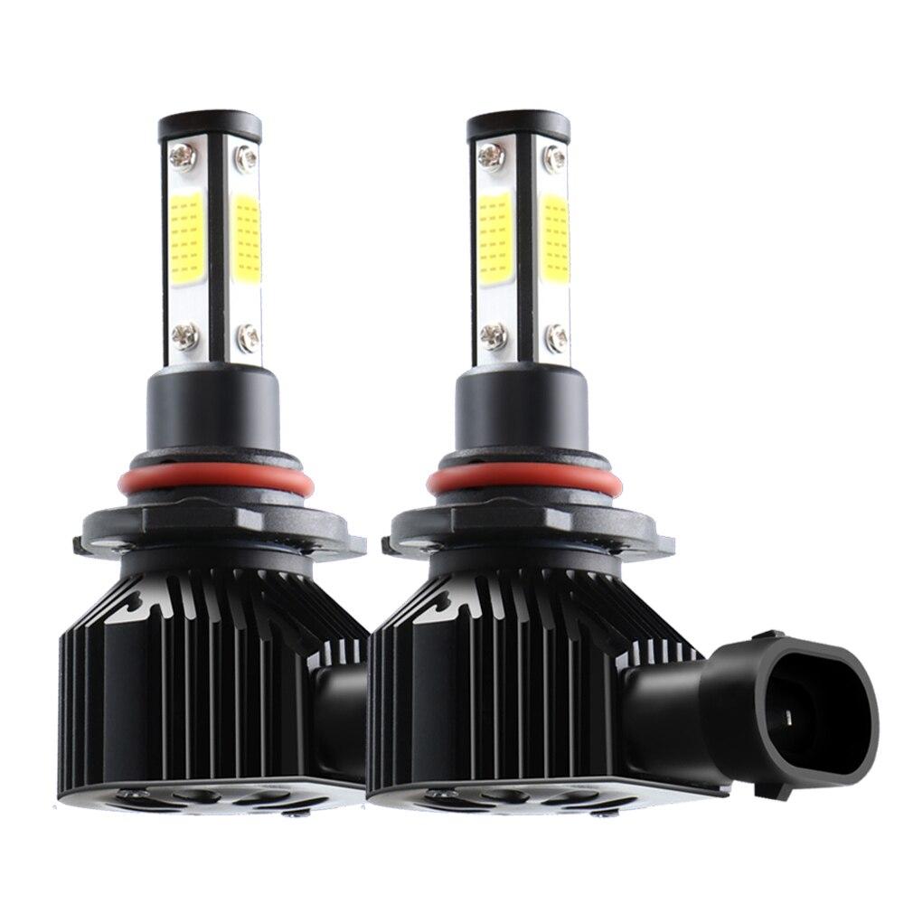 H7 светодиодный H8 H11 9005 HB3 9006 HB4 светодиодный лампы для передних фар 50 Вт 10000LM огни автомобиля мини турбо светодиодный H7 автомобилей лампы 2 шт. ...