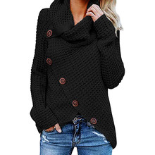 Women's Blouse 2019Top New Women Button Long Sleeve Sweater Sweatshirt Pullover