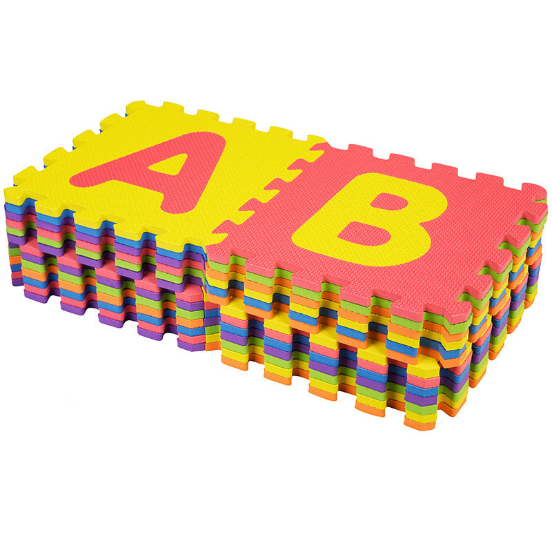 Hb0f158049c734a9b9ba40a19b15b8c23i 30*30cm Foam English Alphabet Number Pattern Play Mat For Baby Children Puzzle Toy Yoga Letter Crawling Mats Rug Carpet Toys