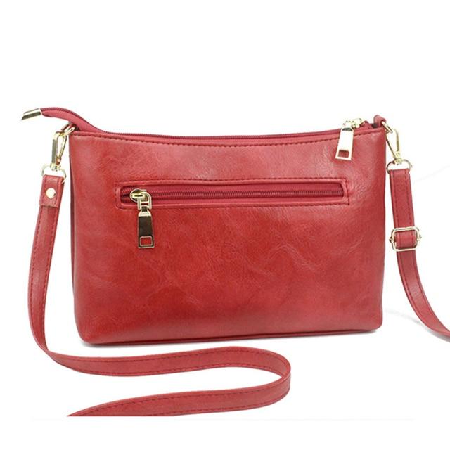 SMOOZA Retro Women Handbags Female Shoulder Crossbody Bags Ladies Artificial Leather Small Stripe Messenger Envelope Bags 2