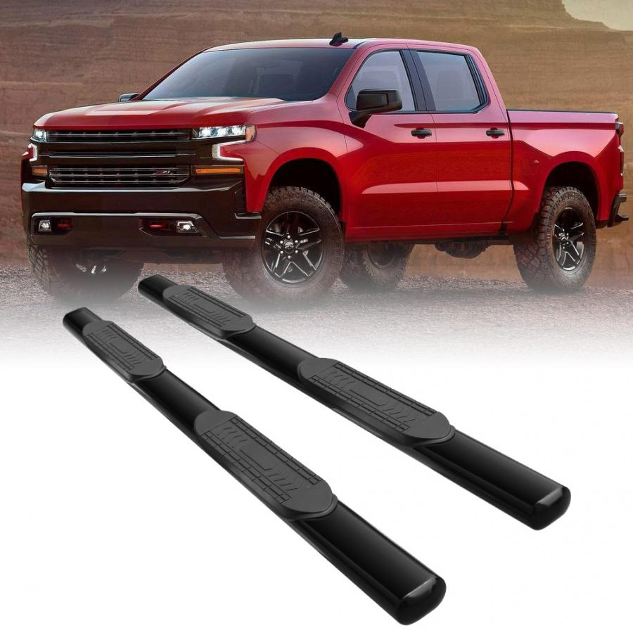 F350 Super Duty Super Cab 5 inches Curved Side Step Nerf Bar Running Board For Ford F250 Black