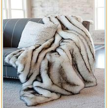 TONGDI peluche doux chaud Raschel synthétique lapin cheveux jeter couverture épais luxe pour fille cadeau hiver canapé couverture lit canapé