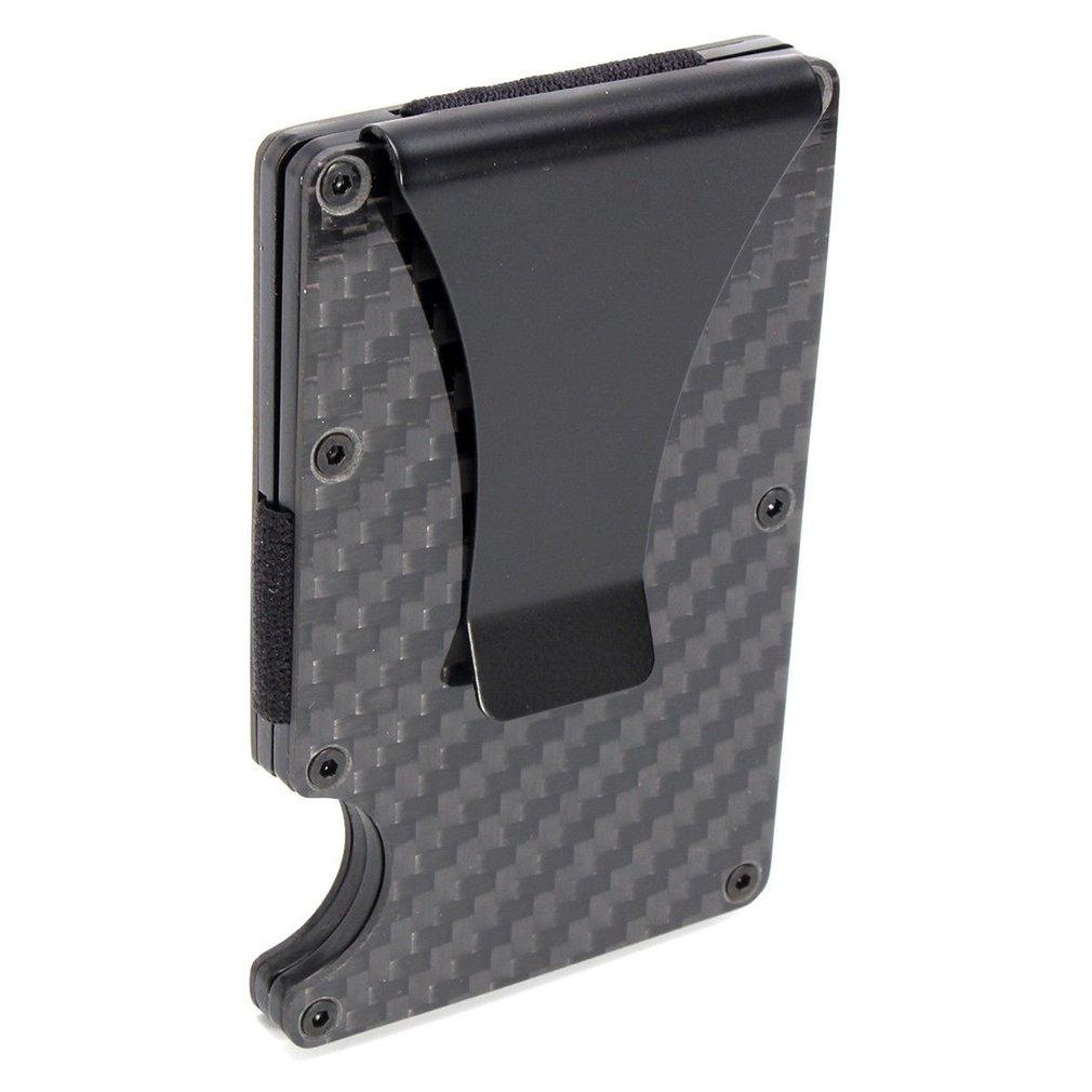 2019 New Men Card Holder Slim Carbon Fiber Credit Card Holder Metal Wallet  Anti Scan Function Hold Card Coins Cash Hot Selling