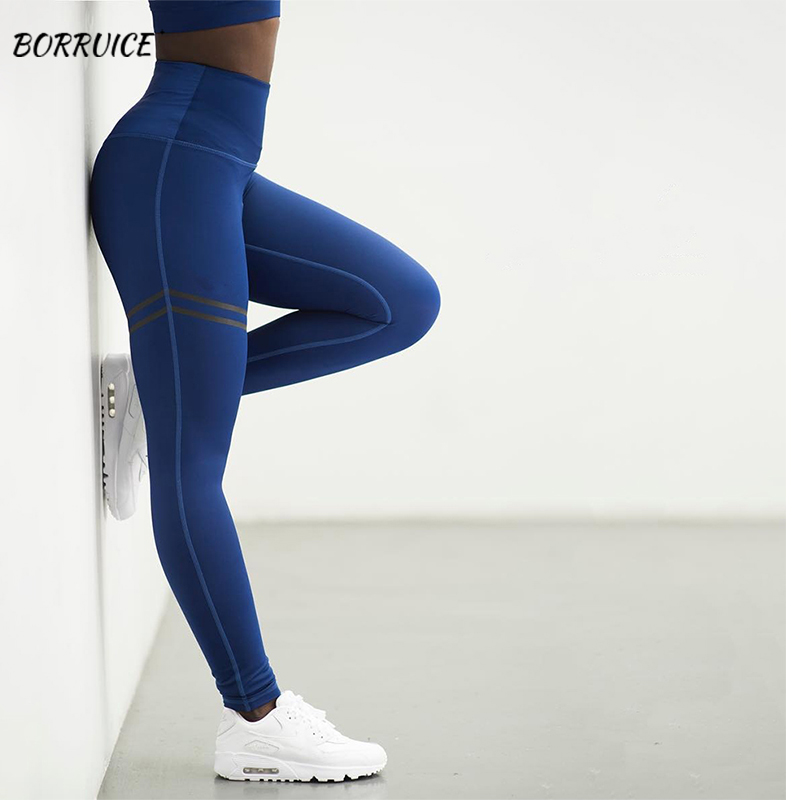 Womens Clothing Sexy High Waist  Gym Leggings Sport Rave  Slim Fit Leggings Push Up Solid Color Hip Temperament Leggings
