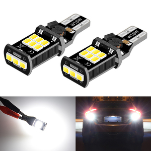 2x T15 LED No Error Back Up Reverse Light Bulb for Toyota RAV4 2018 CH-R CHR 2019 Corolla Camry Yaris Tail Signal Lamp W16W 912