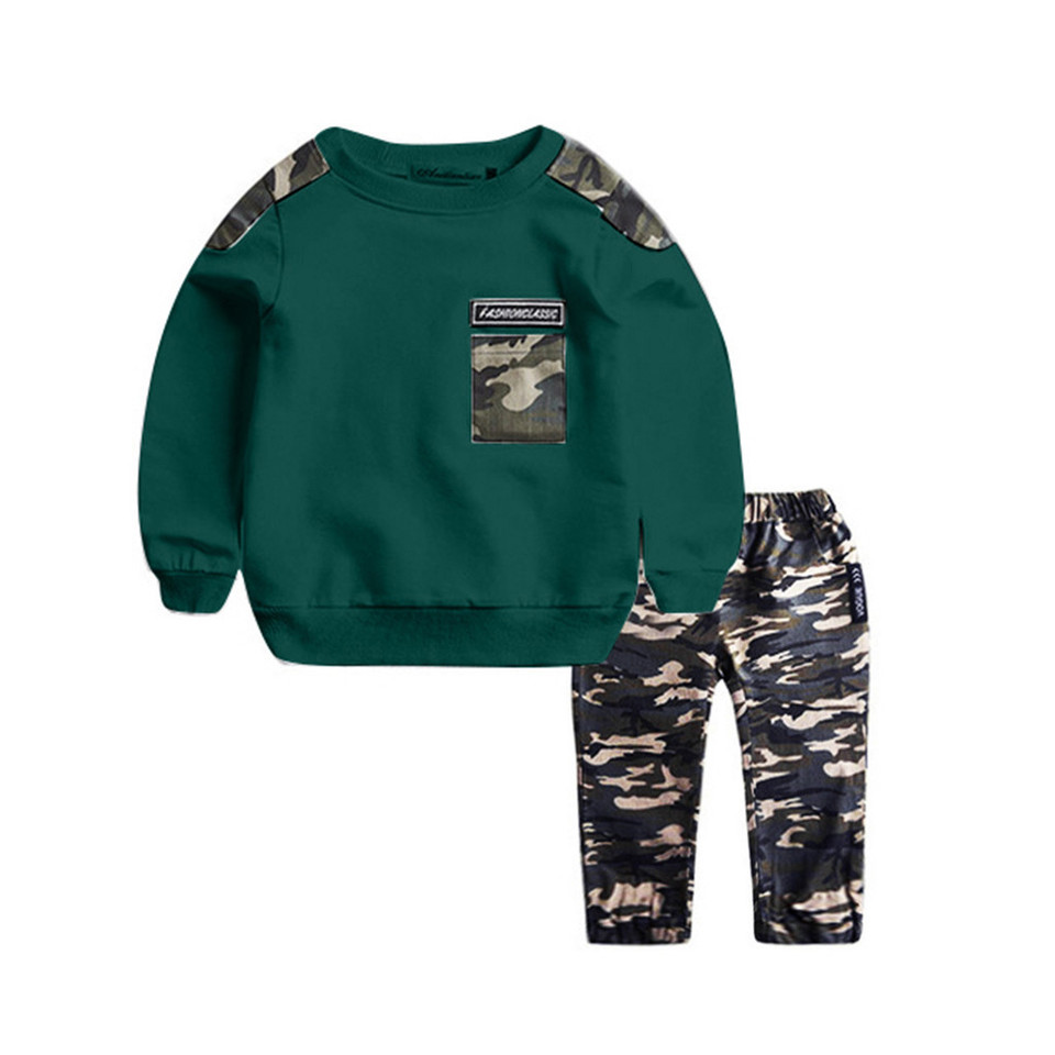 Toddler Baby Boys Shirt Top+Camouflage Trousers Outfits Clothes Set Tracksuit CZ