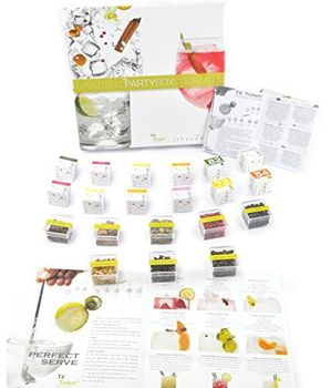 Cyber Monday promo Gin Tonic Gewürzen Geschenkset Probierset von Te Tonic- mit 24 Aufgussbeuteln und 8 Botanicals. Schmecke das