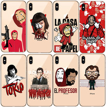 Spanish TV La casa de papel Clear Soft Silicone TPU Phone Case Back Cover For iPhone 5 5s SE 6 6sPlus 7 8 Plus X XR XS MAX coque