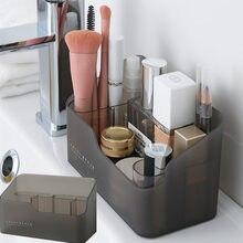 Maquillage en plastique salle de bain boîte de rangement organisateur cosmétique bureau maquillage bijoux mallette de rangement articles divers Table conteneur organisateur