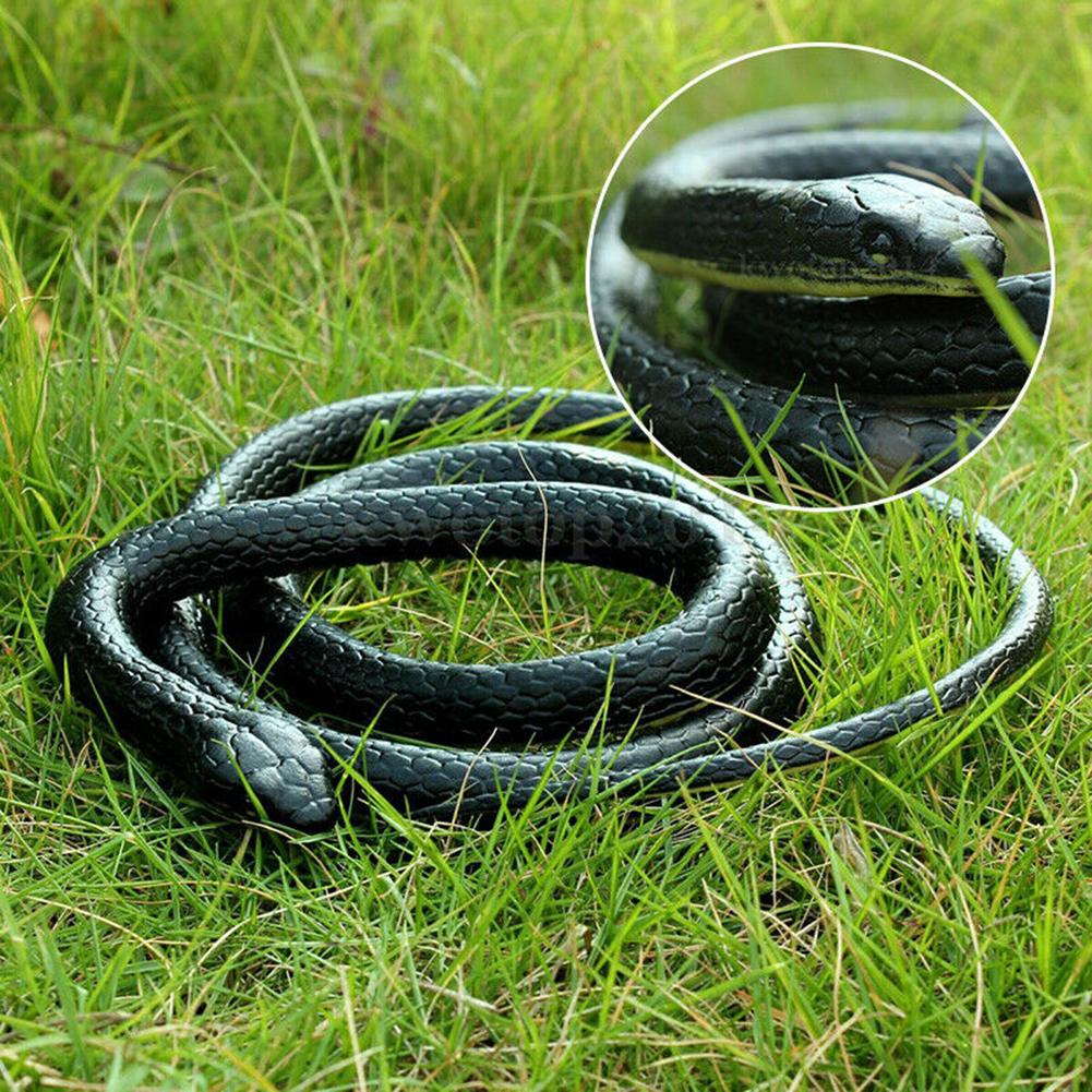 130cm Lifelike Realistic Fake Snake Toy Halloween April Fools Day Trick Prop