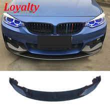 цена на Loyalty Front Lip Spoiler for BMW F32 F33 F36 M Sport Bumper 2014-19 ABS Carbon Fiber Style Car Styling Accessories