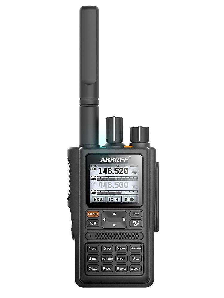 Walkie-Talkie Led-Display Abbree ar-F8 Dns-Detection Long-Range 136-520mhz GPS CTCSS
