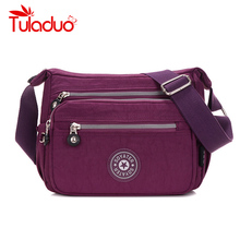Women Messenger Bags Nylon Waterproof Bag Female Shoulder Crossbody Fashion Letter Print Ladies Handbags Dropship