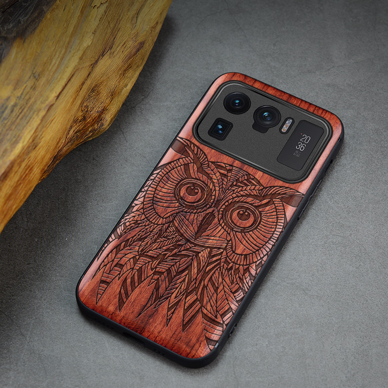 Carveit For Mi 11 Ultra Wood Case Original Wooden Cover 3D Carved Xiaomi Mi 11 Pro Lite Thin Shell Luxury Accessories Phone Hull