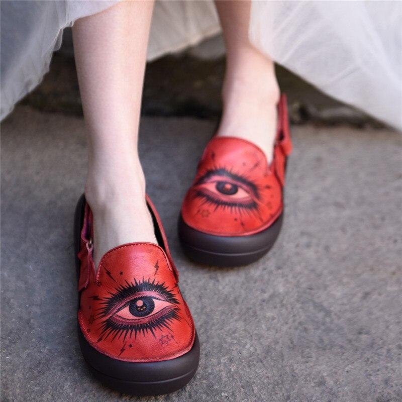 Artmu Original Custom Women's Sandals Flat Sole Hook And Loop Cool Big Toe Shoes Genuine Leather Handmade New Platform Shoes