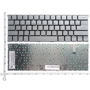 Image 4 - GZEELE NEW US English laptop keyboard for Acer Aspire S7 391 S7 392 MS2364 silver keyboard without backlight