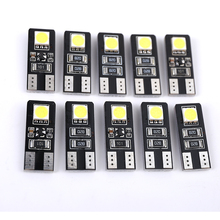 10PCs Canbus T10 194 168 W5W 5050 LED Parking 2 SMD Chip Error Free Reading Car Side Wedge Parkings Lamp White Light Bulb t10 501 194 168 w5w 6 led 5630 smd canbus error free pure white car auto side wedge parking lights lamp bulb dc12v 1pcs