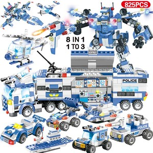Image 5 - 890pcs City Police Station Building Blocks Compatible SWAT City Cop Car Jail Cell Helicopter Bricks Toys for Children Boys Gifts