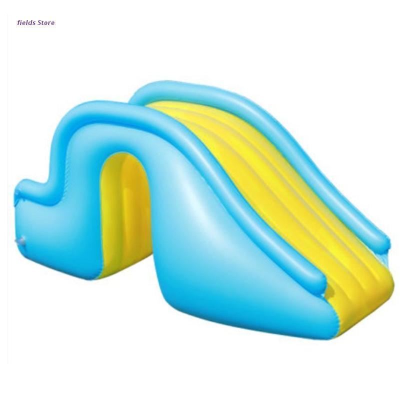 XX9E Inflatable Water Slide Wider Steps Indoor Outdoor Swimming Pool Supplies Kids Children Bouncer Castle Waterslide Summer