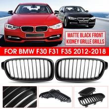 Noir brillant mat noir m-color paire grille de rein avant pour BMW F30 F31 F35 320i 328i 335i 2012 2013 2014 2015 2016 2017